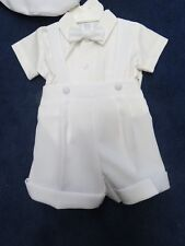 Lito 3/6 month boys 3 piece white outfit,cotton poly. new w/tags