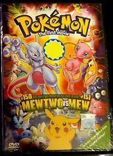 Pokemon The First Movie: Mew Two VS. Mew (1st Movie) ~ DVD ~ English Version ~