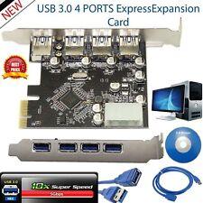 SuperSpeed PCI-E PCIe Express a 4 puertos USB 3.0 Tarjeta de expansión ADAPTADOR