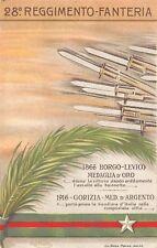 C6018) WW1 RAVENNA, 28 REGGIMENTO FANTERIA. ILLUSTRATORE RUFFATO.