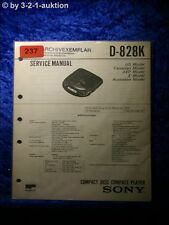 Sony Service Manual D 828k CD Player (#0237)
