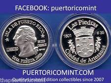 Silver PESETA LAS PIEDRAS  2009 Puerto Rico Boricua Quarter 1/100 Plata