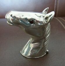 sterling silver vesta case - horse racing -Hunting Vesta Case