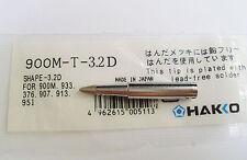 1pc 900M-T-3.2D Replace Soldering Solder Leader-Free Solder Iron Tip F Hakko 936