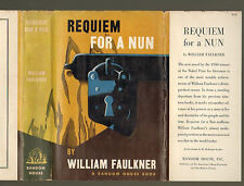 Faulkner REQUIEM FOR A NUN first printing, first ed in dj, REVIEW COPY w/ slip