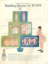 1955 Budding Beauty by TUSSY Pretty Vintage Ad Dressing/ Bathroom Decor PRINT AD