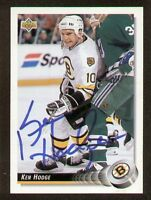 Ken Hodge signed autograph auto 1992-93 UD Hockey Trading Card