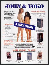 JOHN and YOKO: A Love Story__Original 1989 Trade AD promo__The Beatles__Lennon
