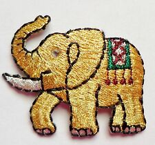Iron On Patch Applique - Elephant Gem Eye Metallic