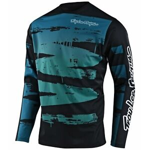 Troy Lee Designs Sprint Jersey Youth Kids Tld Bmx Mtb Dh Brushed Marine 2021