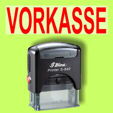 VORKASSE - Shiny Printer Schwarz S-842 Büro Stempel Kissen Rot