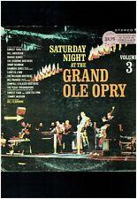 SATURDAY NIGHT AT THE GRAND OLE OPRY VOLUME 3 LP BILL ANDERSON BILL MONROE