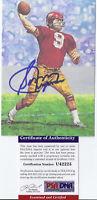 Sonny Jurgensen Signed Goal Line Art Card- PSA DNA