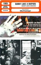FICHE CINEMA FILM GB Bunny Lake a disparu / Bunny Lake is missing Otto Preminger