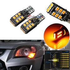 2PCS Amber Yellow T10 15-SMD-2835 2821 W5W 158 184 LED Turn Signal Lights Bulbs