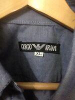 Giorgio Armani Mens Shirt Size XL Short Sleeve Button Up