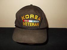VTG-1990s Korea Korean War Verteran Military rope style snapback hat sku29