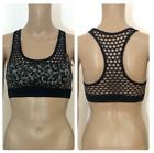 New Victoria's Secret Pink Camo Print Crochet Back Sports Bra XS L