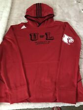 Adidas Louisville Cardinals Training Top Hoodie Red Mens Large Men's Great Cond.
