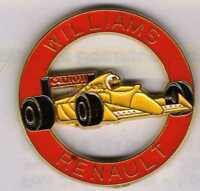 Pins Pin's lapel pin Williams Renault Canon Camel Rond rouge F1 Jaune Signé