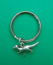 Tibetan Silver DINOSAUR/TYRANNOSAURUS REX Keyring/Bag Charm- Birthday Gift.