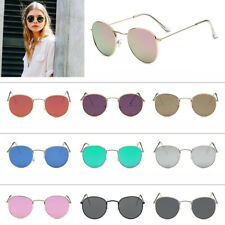 Retro Women Men Metal Frame Sunglasses Glasses Vintage Round Outdoor Eyewear Hot