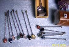30 sets cocktail fork picks cup Lobster Hor D'Ouerves stone knobs WEDDING gift