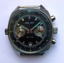 Poljot Black Vintage USSR Russian Soviet watch Chronograph Sturmanskie 3133 6118