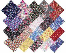 """20 10"""" Quilting Fabric Layer Cake Squares Among the Flowers Prints NEW ITEM"""