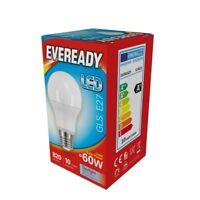 5x Eveready LED GLS Light Bulb 820lm 6500K .6W (60W) SCREW E27  - Daylight