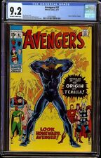 Avengers # 87 CGC 9.2 OW/W (Marvel, 1971) Origin Black Panther