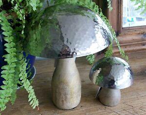 Small Silver Metal Top Mushroom