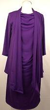 Wearabouts Knit Jacket Dress 3/4 Sleeve Draped Neckline Purple Size XL #2745