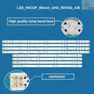 LED TV backlight strip kit LGE_WICOP_49inch_UHD_REV0G for LG 49UH610A 49LH5700