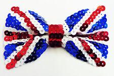 Union Jack Bow Tie Bowtie - Sequin Style - Patriotic Fancy Dress