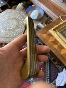 Original Art Deco Fluted  Brass Door Knocker