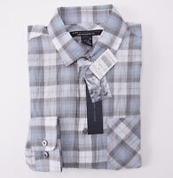 NWT $198 MARC JACOBS Pale Blue-Gray Plaid Lightweight Cotton Shirt XS Check