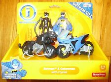 Imaginext DC Super Friends BATMAN & CATWOMAN CYCLES SET GOTHAM CITY TOYS R US EX