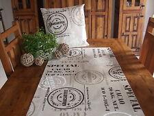 Tischläufer, Stempel, Natur, Baumwollmischung
