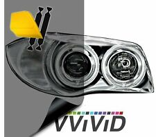 VViViD Black Perforated Headlight Vinyl Wrap Self-Adhesive DIY Cover Roll 17.9 x 48