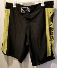 Bad Boy - Pro Series Fight Shorts - Men's Xl (35-36) - Black/Yellow