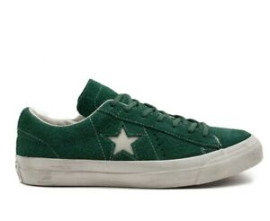 Converse Mens One Star X John Varvatos Green Lace Up Active Sneaker Trainers