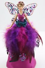 GISELA GRAHAM CHRISTMAS FUCHSIA PEACOCK FAIRY TREE TOP  ANGEL ORNAMENT SMALL