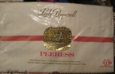 NIP Peerless Lady Pepperell 100% Combed Cotton Percale Twin Bed Sheet 72 X 108