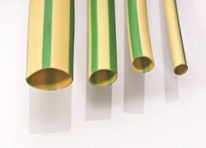 Green Yellow Electrical Earth Sleeving PVC 2mm 3mm & 4mm Cut Lengths