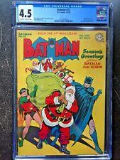 BATMAN #27 CGC VG+ 4.5; OW-W; Santa Christmas cvr; Penguin app.!