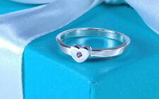 Tiffany & Co. Paloma Picasso Crown of Hearts Ring Pink Sapphire 7.5 Silver 925