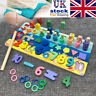 Montessori Numbers Matching Wooden Kids Count Learning Educational Math Toys UK
