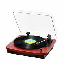 Record Player, Musitrend /Jorlai 3-Speed Belt-Drive Turntable Oak Stereo Speaker