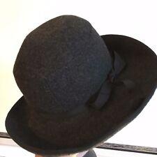 Vintage Ladies Jaeger Felt grey wool  Hat Designer sits on top of head , races?